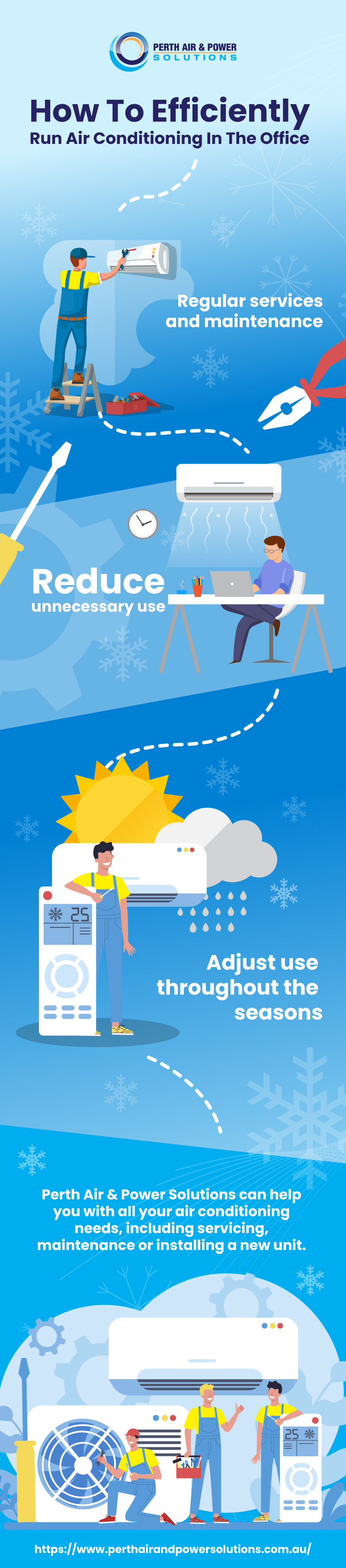 HOW TO EFFICIENTLY RUN AIR CONDITIONING IN THE OFFICE
